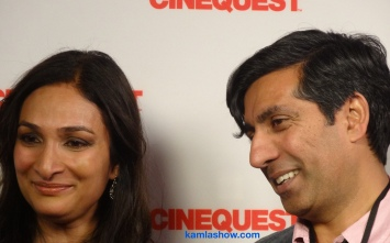 Meera SImhan and Ravi Kapoor at Cinequest, 2015. The Kamla Show