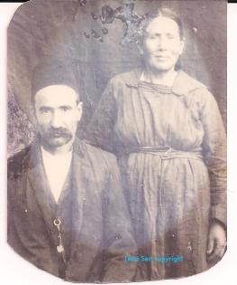 Leila Sen's grandparents Baba Tath t (L) and Bajo (R).