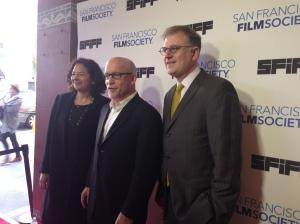 Rachel Rosen, Alex Gibney & Noah Cowan on the opening night of San Francisco International Film Festival, 2015