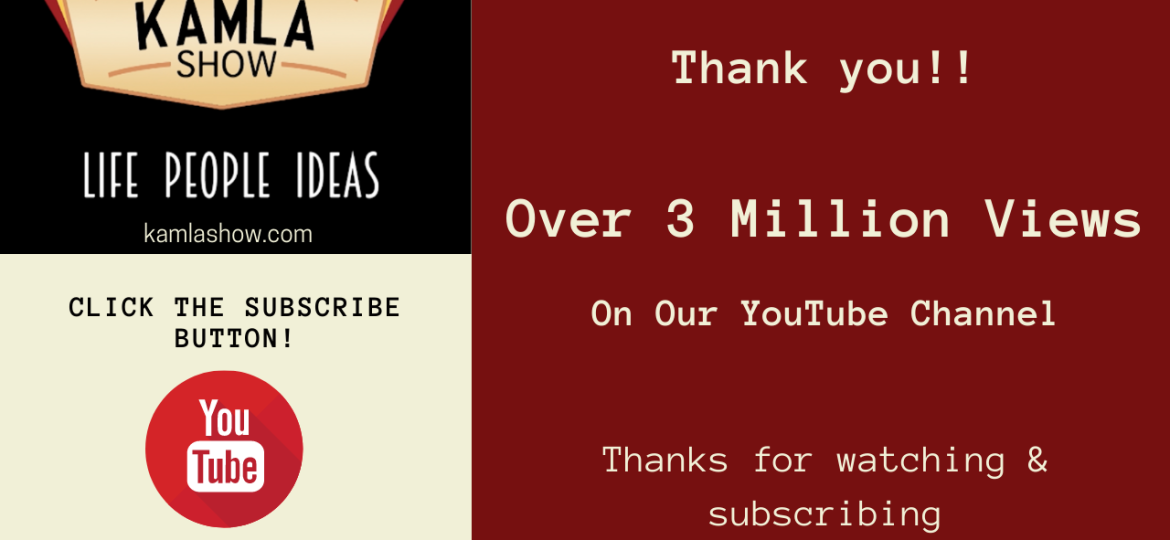 THANKS – 3 MILLION PLUS VIEWS ON OUR YOUTUBE CHANNEL